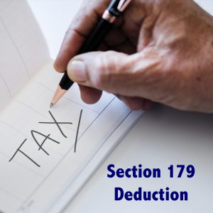 Hand Writing Tax in Ledger, Section 179 Deduction